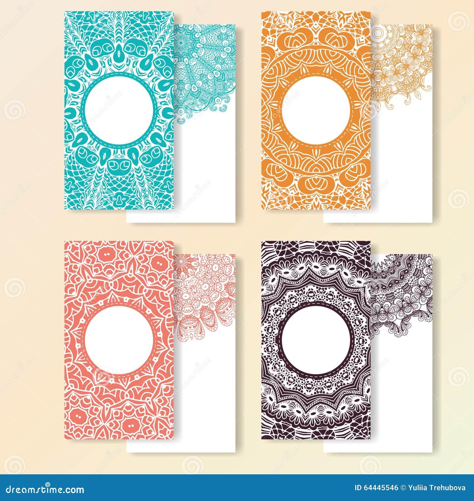 how to draw a mandala greeting card