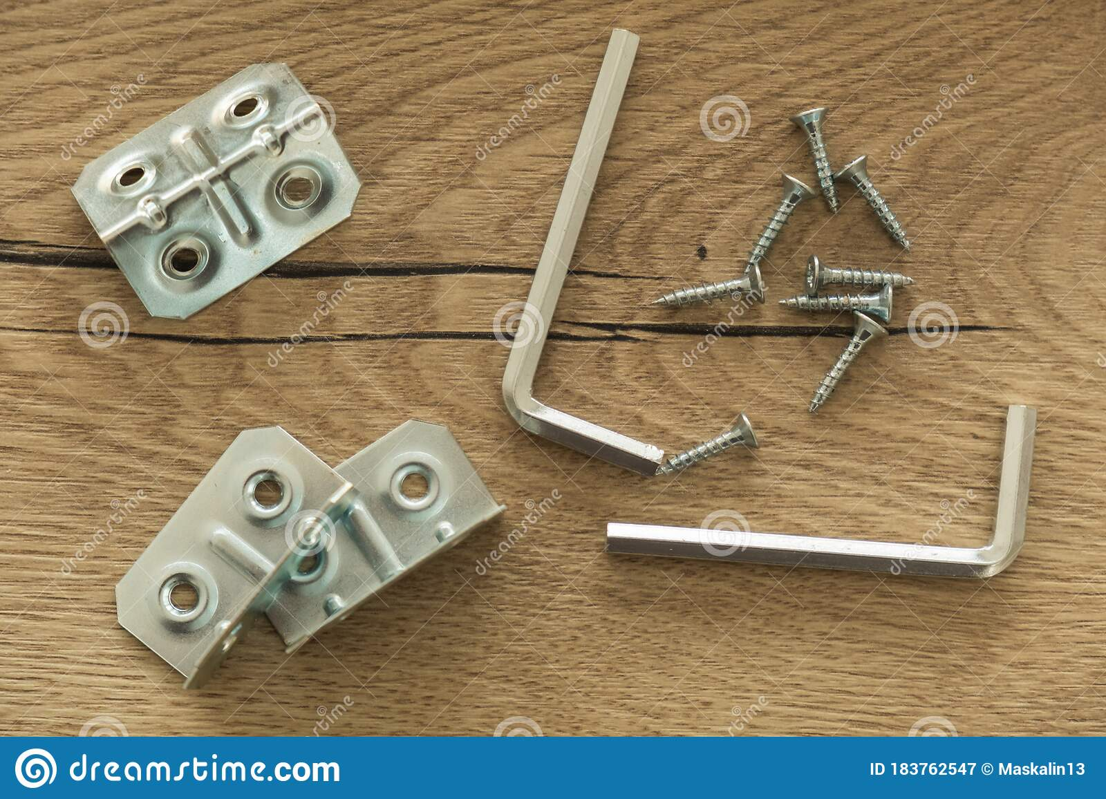 Set Of Carpentry Installation Tools Laid Out Stock Image ...