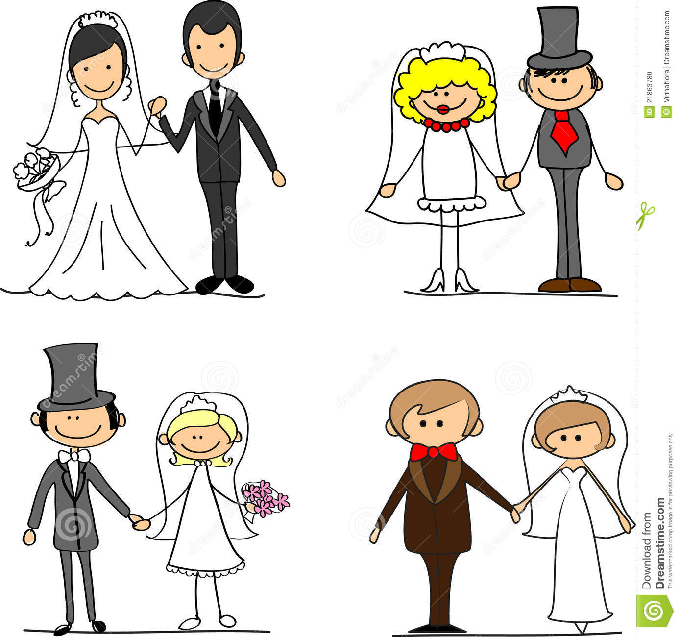 set cartoon bride and groom vector stock vector illustration of rh dreamstime com bride and groom cartoon free download wedding bride and groom clipart free