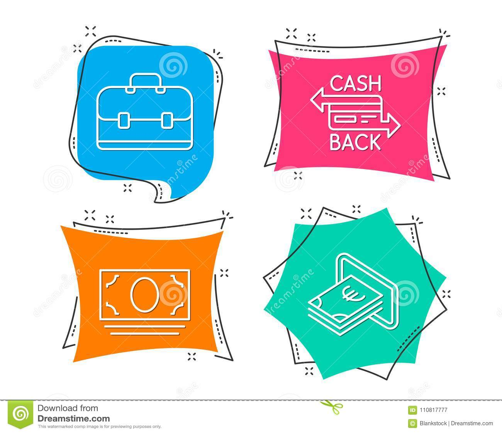 Cash money portfolio and cashback card icons cash sign banking cash money portfolio and cashback card icons cash sign banking currency business colourmoves
