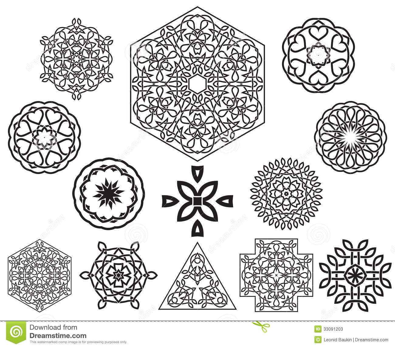 Set of celtic knot design elements illustration 33091203 megapixl buycottarizona