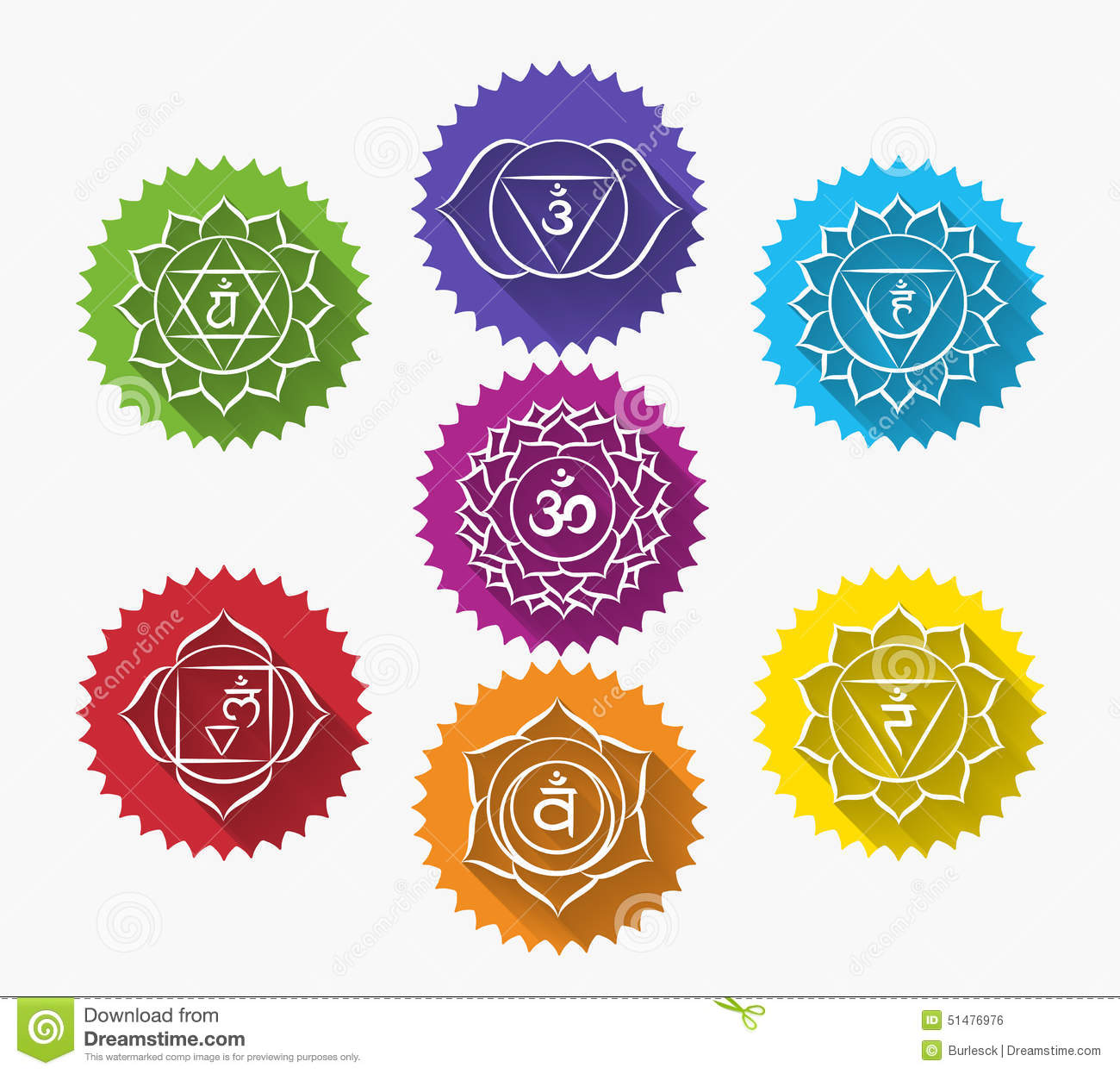 Set Of Chakras Stock Vector Illustration Of Icon Mind 51476976