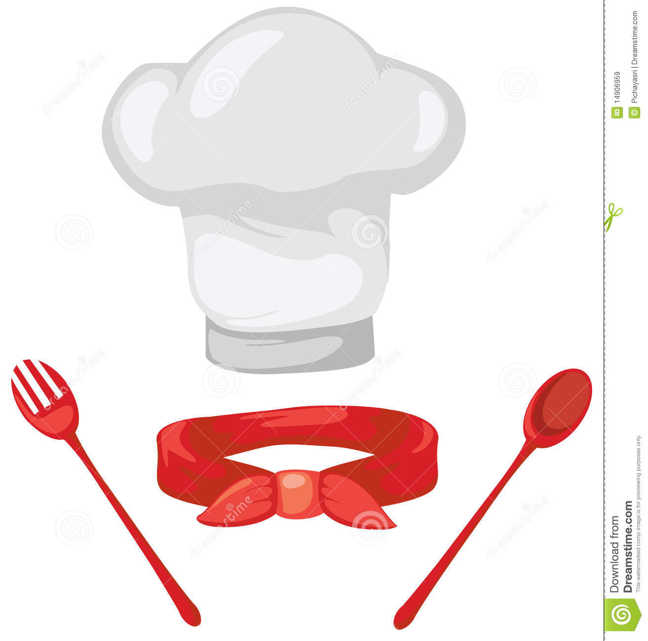 Set Of Chef Hat ,red S...