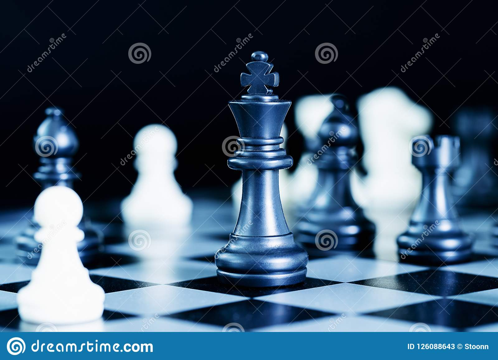 Close Up Chess Pieces On Chessboard Stock Image Image Of