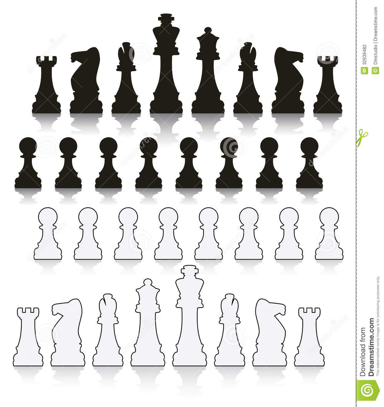 Set of chess symbols stock vector illustration of board 32639482 set of chess symbols biocorpaavc Gallery