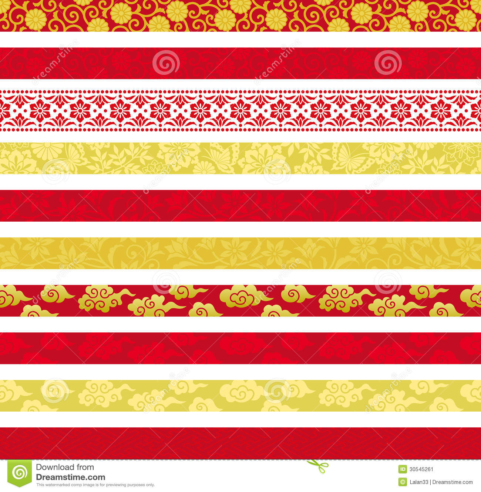 Set Chińscy dekoracyjni sztandary.