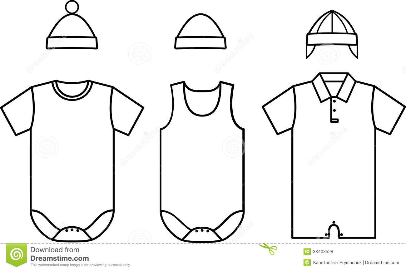 set of child baby wear vector royalty free stock photos image