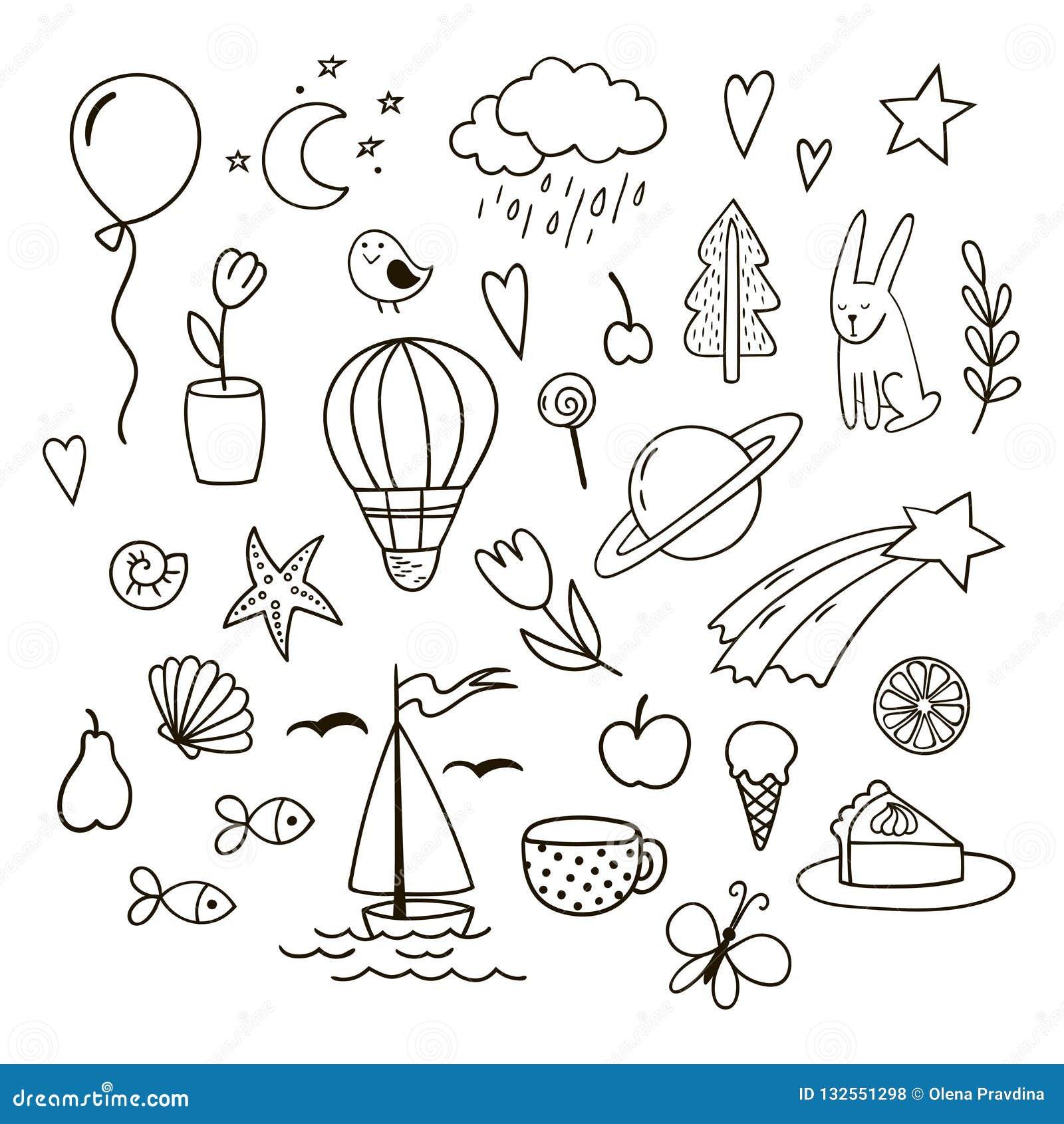 doodles cute clipart vector childish