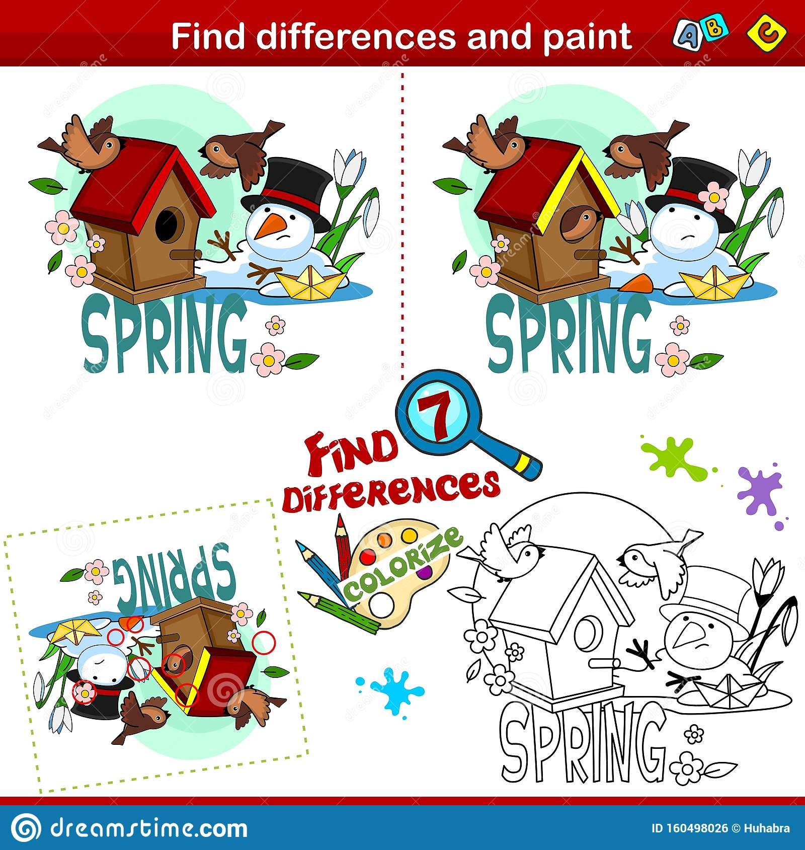 Differences And Coloring Part 8 Stock Illustration Illustration Of Preschool Colorize 160498026