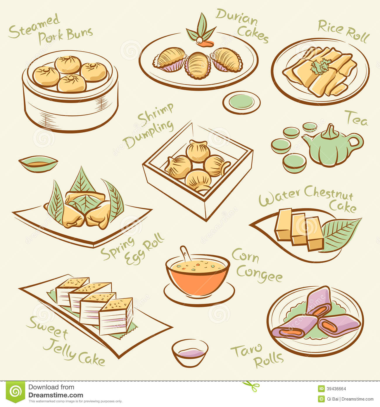 Set of chinese food stock vector image 39436664 for Cuisine names
