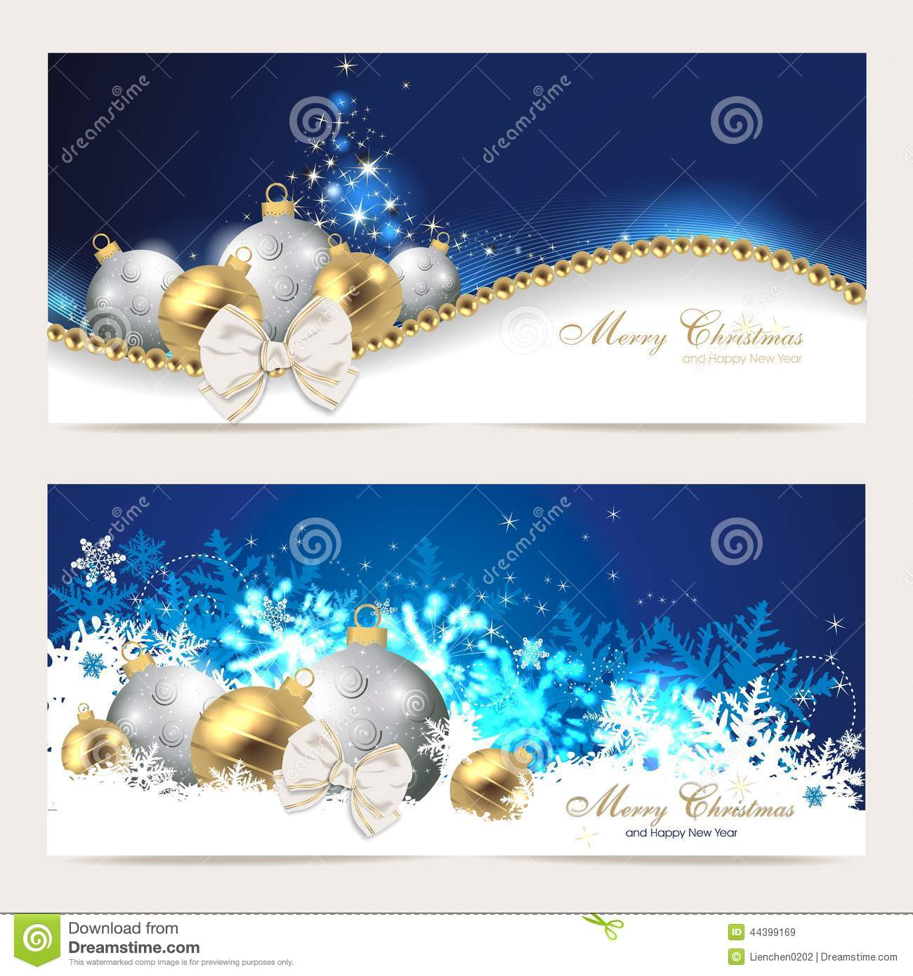 Set With Christmas Cards Stock Vector Illustration Of Decoration