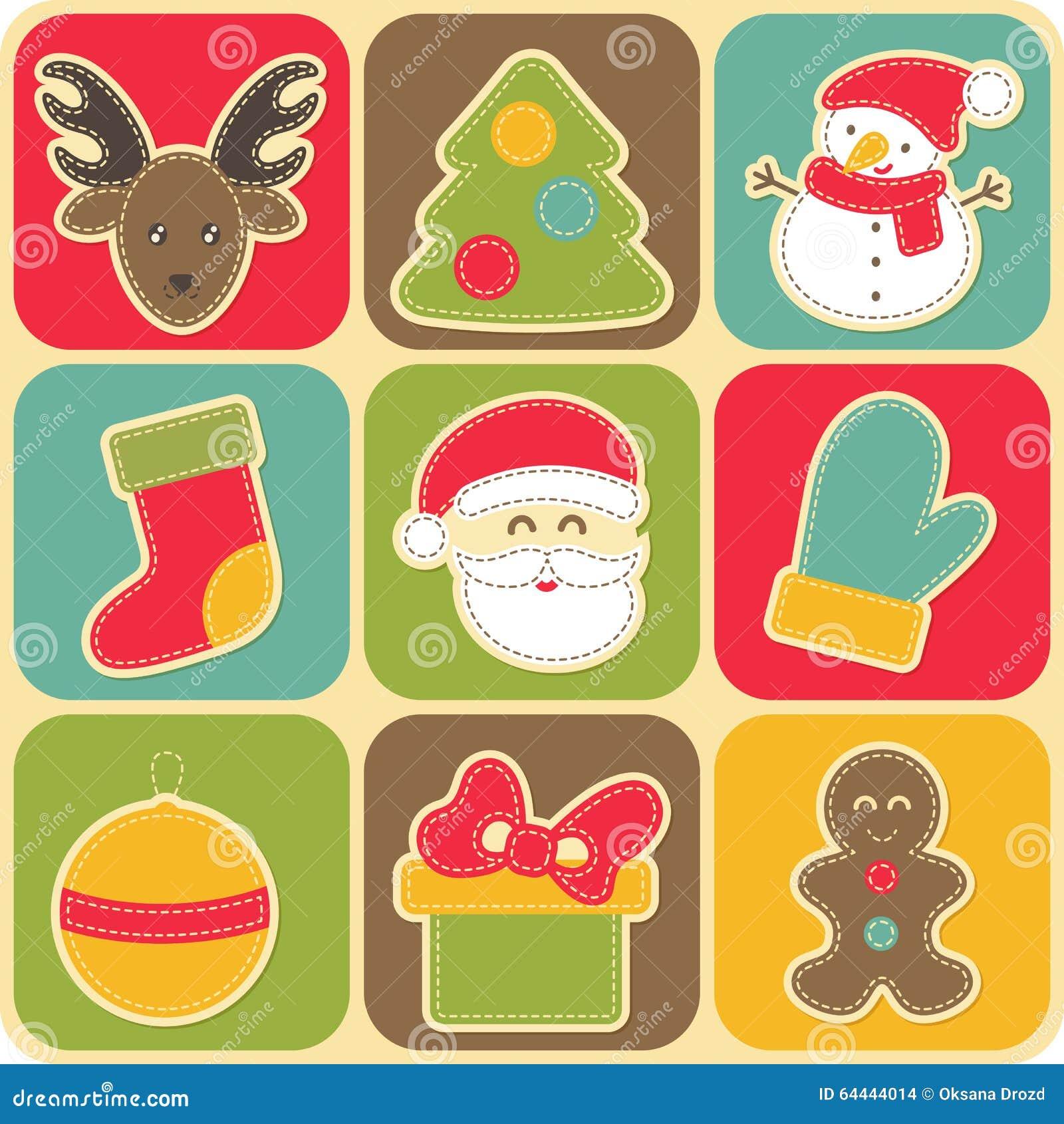Set of Christmas design elements for babies.