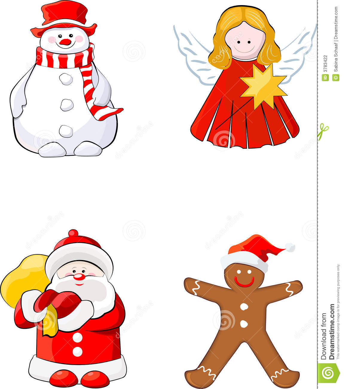 set of christmas figures stock photography image 3783422 gingerbread house clipart without copyright gingerbread house clipard