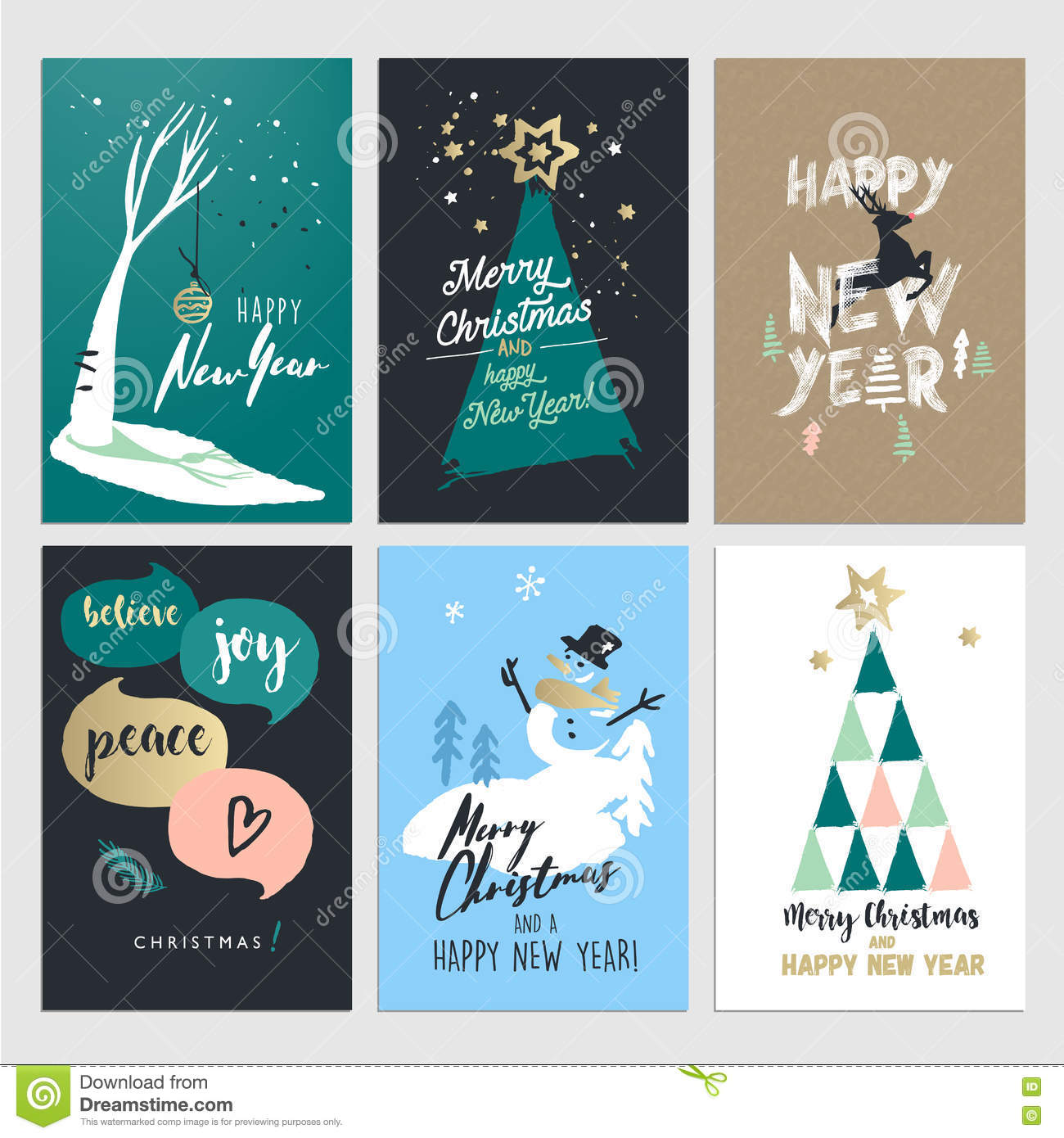 Set of christmas and new year flat design greeting cards stock set of christmas and new year flat design greeting cards m4hsunfo