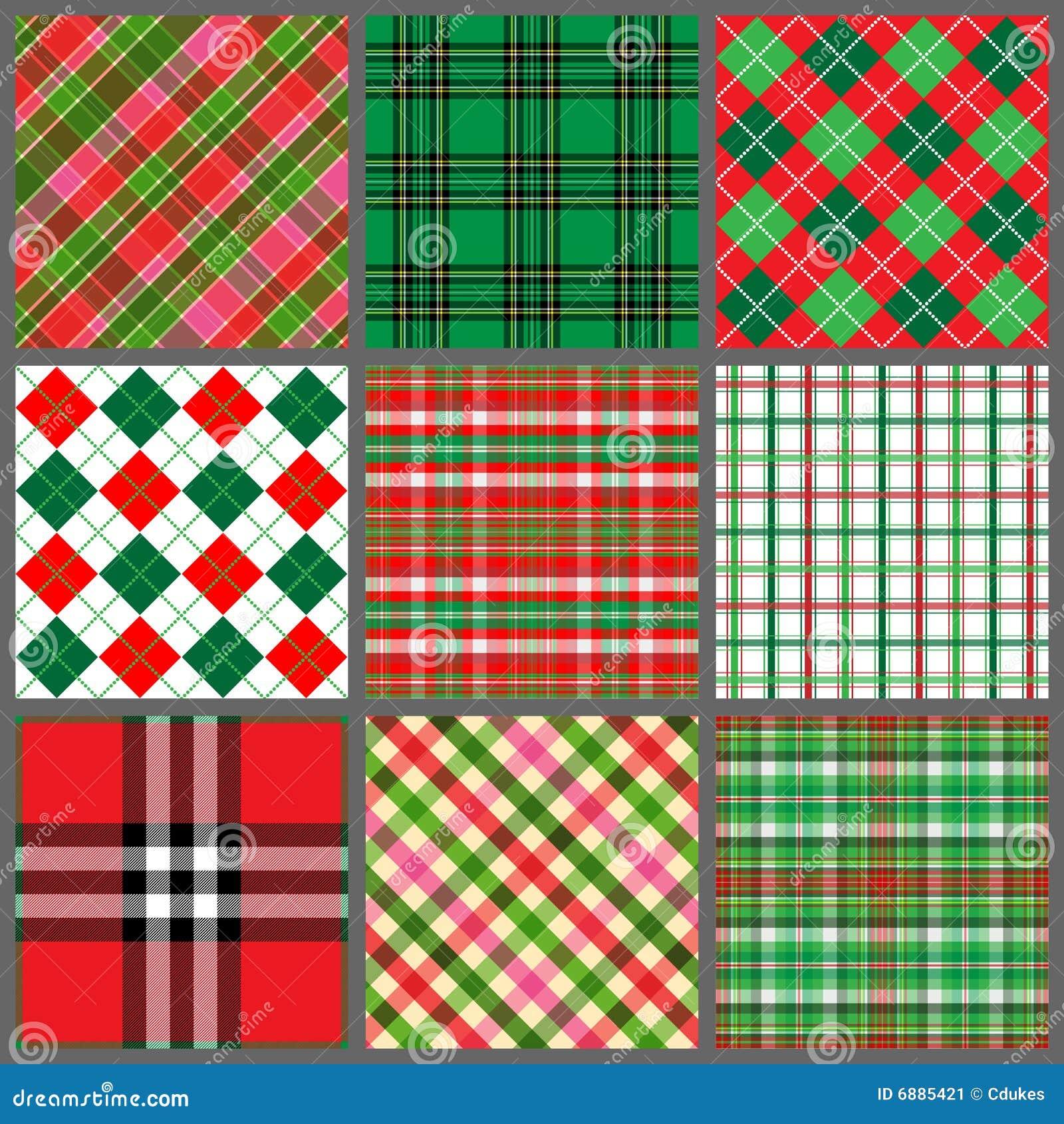 Set Of Christmas Plaids Stock Image Image 6885421