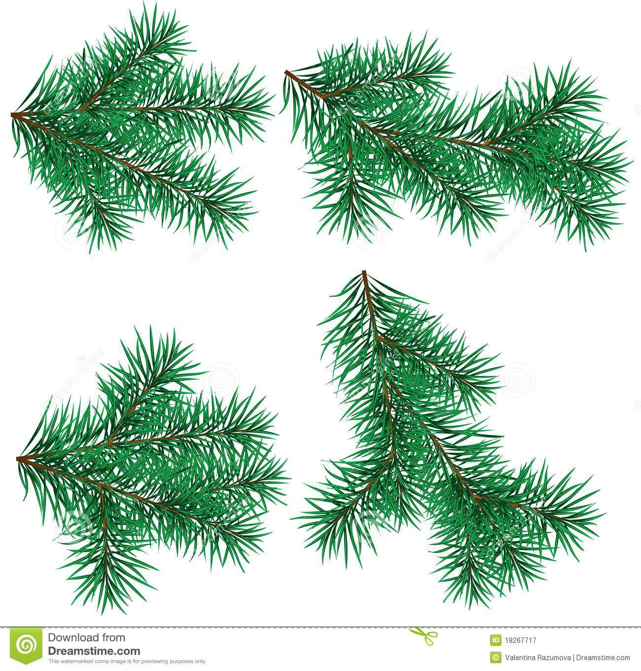 set christmas tree branch for decorate - Christmas Tree Branch Decorations