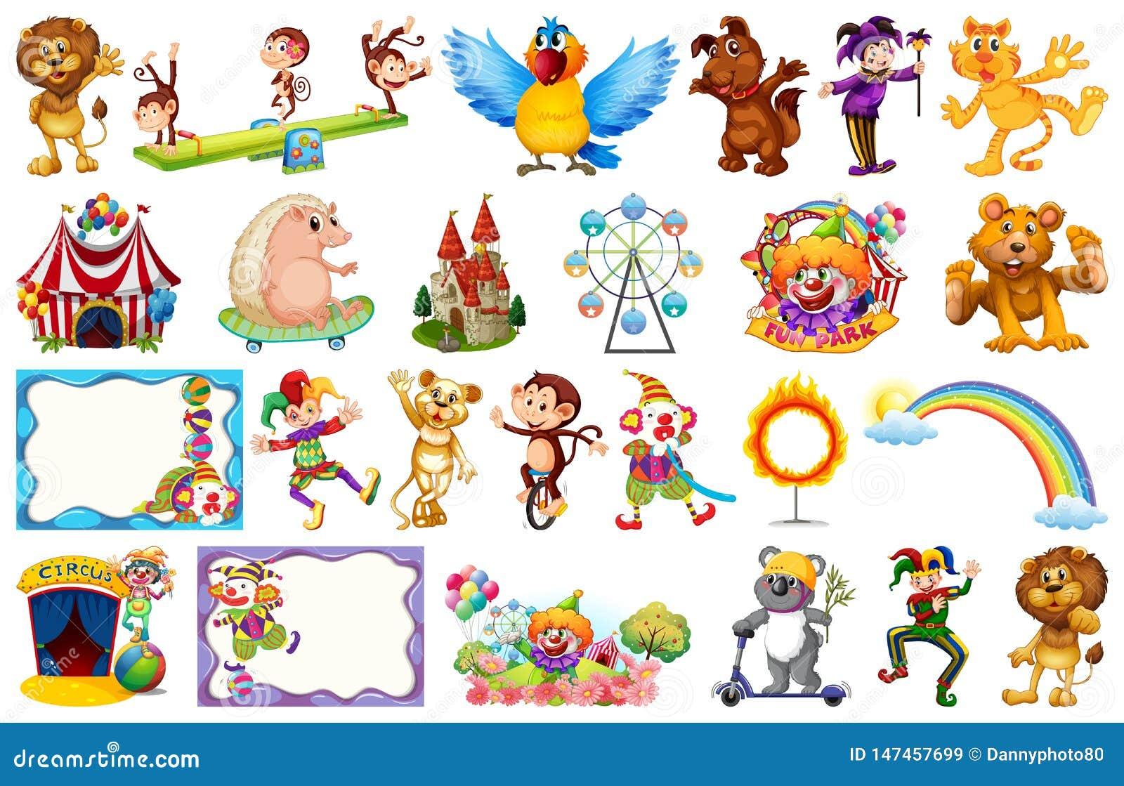 Animal Circus Carnival Clip Art | Pre-Designed Photoshop Graphics ~  Creative Market