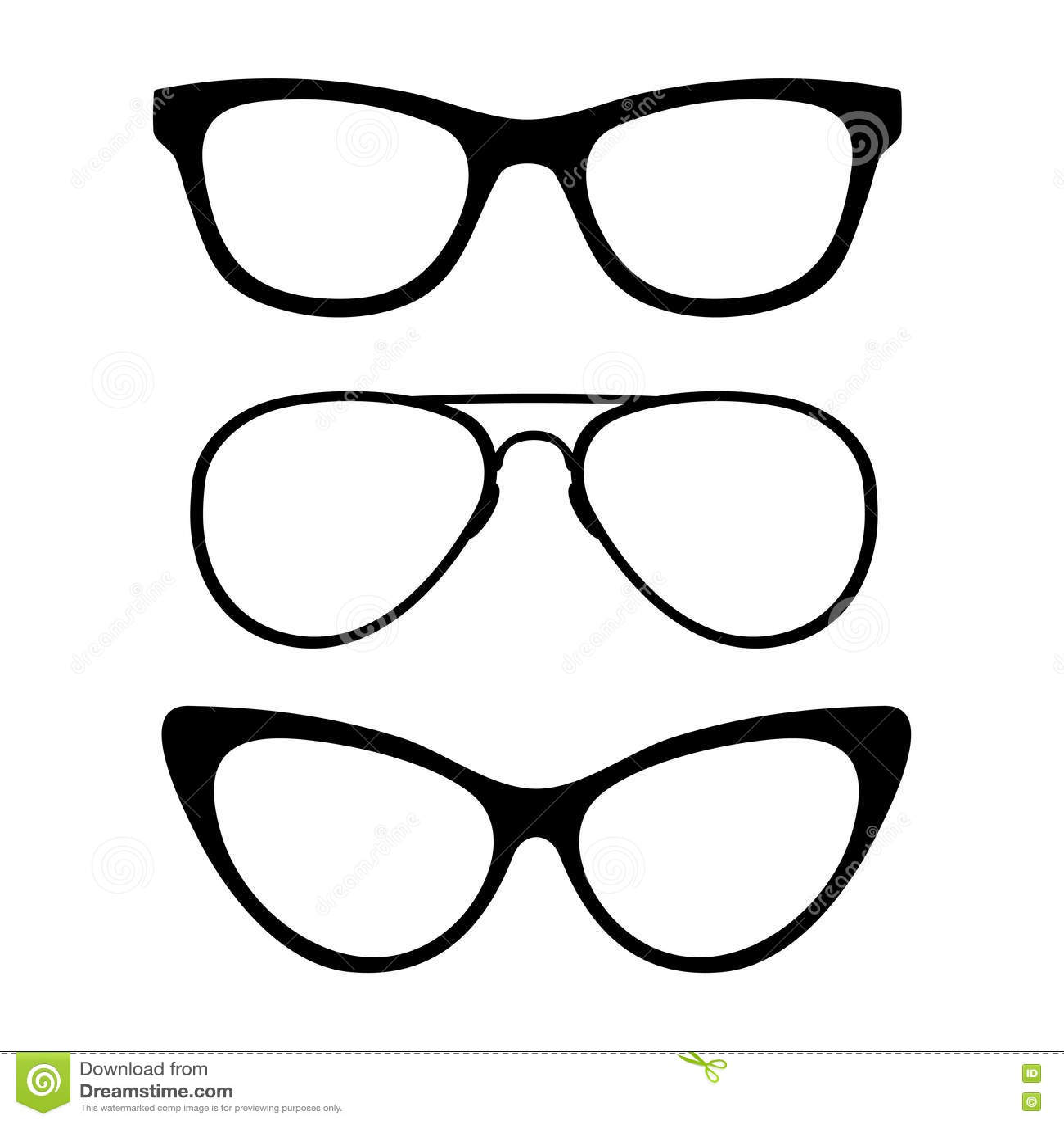 set of classic glasses stock photo image 34244010 moustache clipart printables mustache clip art no background