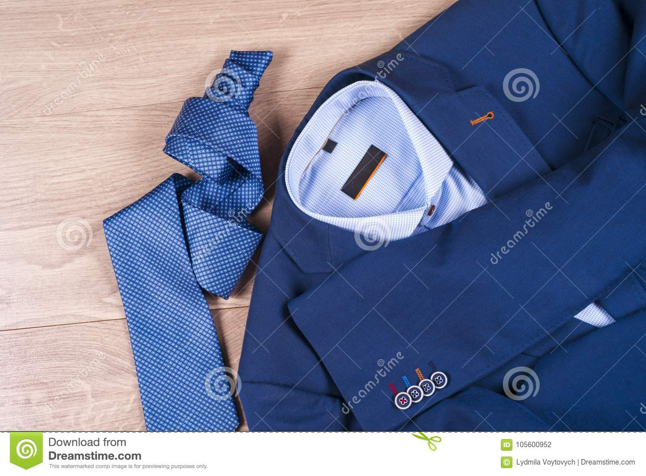 30ed3fbfbe0 Set Of Classic Mens Clothes - Blue Suit