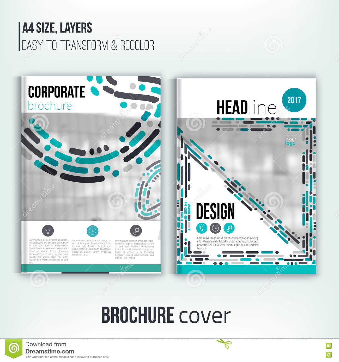 set of clean brochure cover templates blured city landscape set of clean brochure cover templates blured city landscape business design flyer