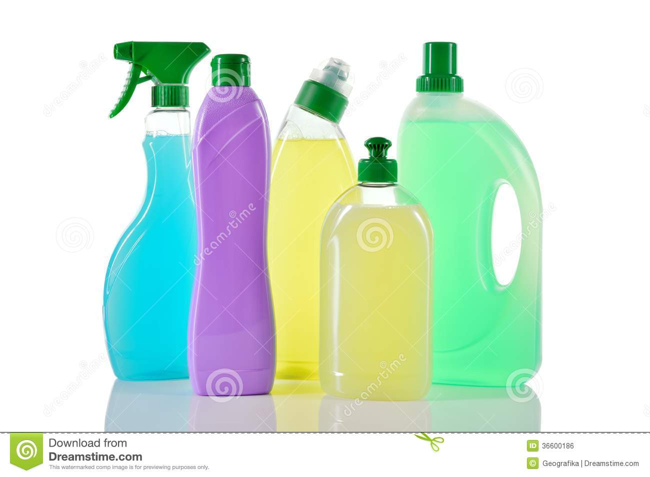 Set Of Cleaning Products. House Cleaners. Royalty Free Stock Image ...
