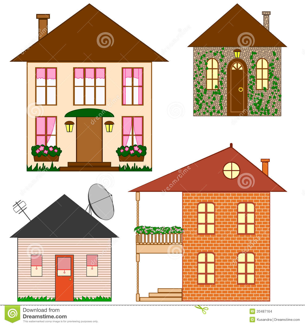 Set Of Clip Art Houses Stock Images - Image: 20487164