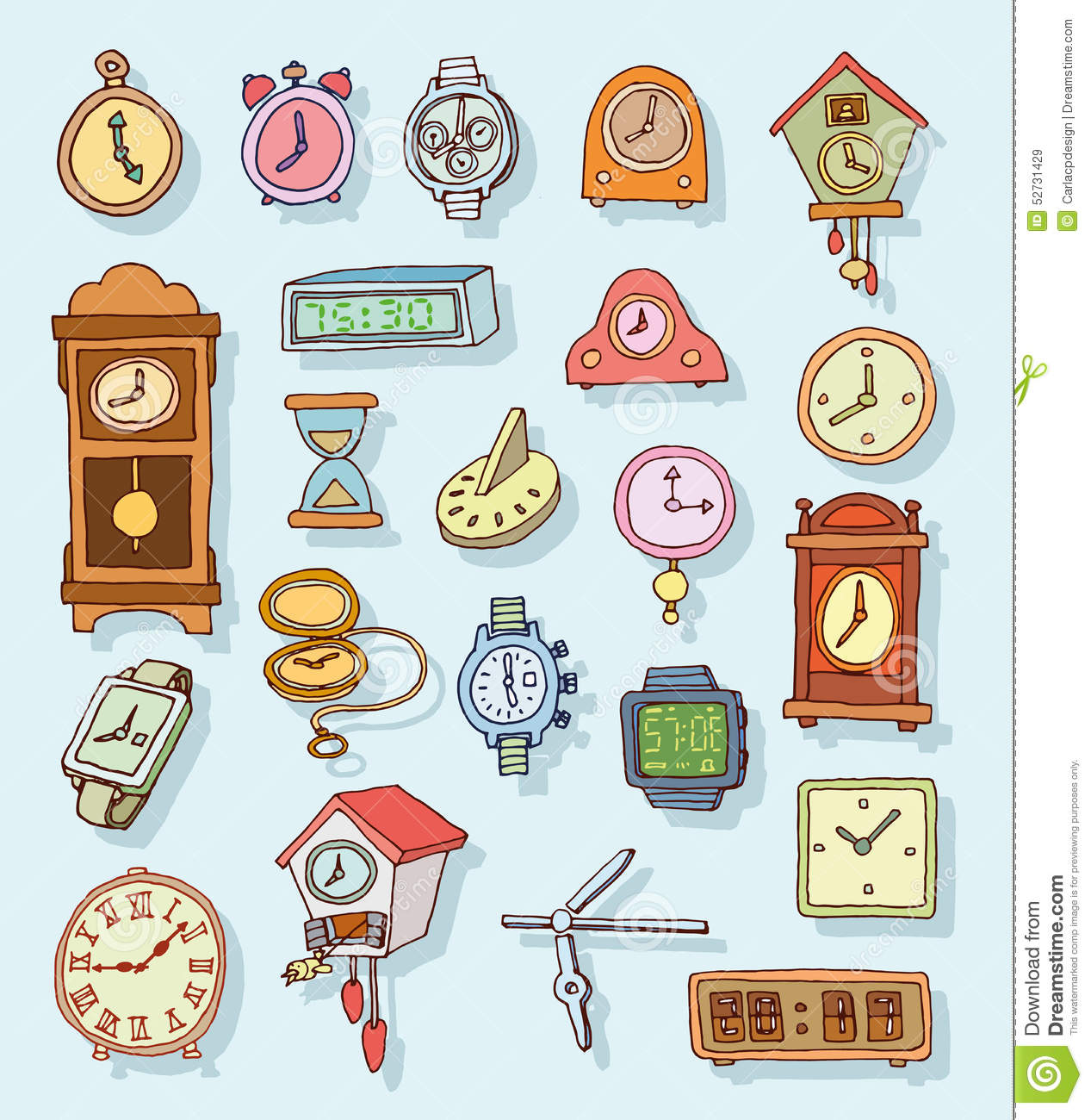 clipart of watches and clocks - photo #1