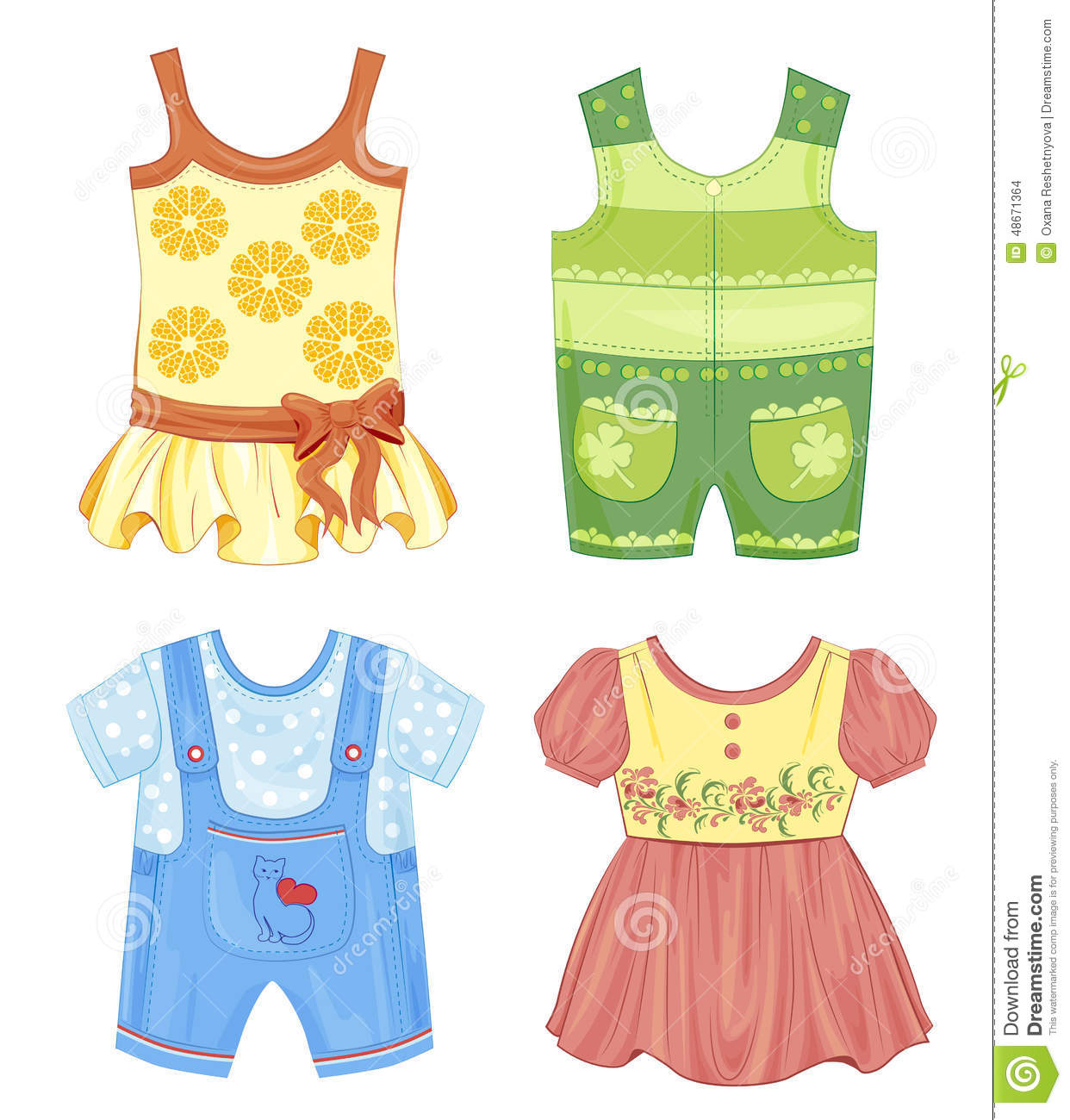 Set Of Clothes For Kids Stock Vector Image 48671364