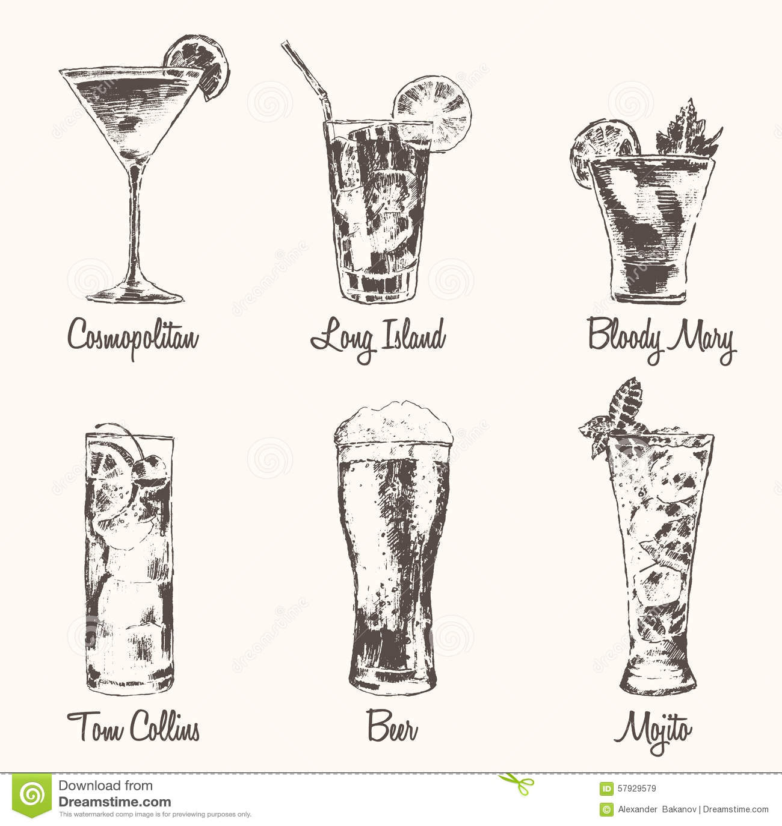 Cocktail menu template free download