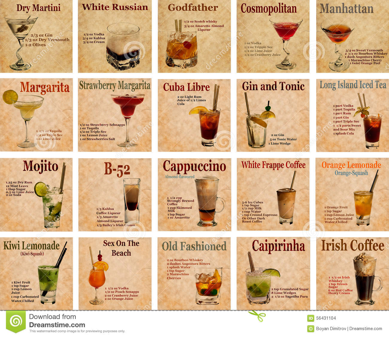 COCKTAILS RECIPES WITH PICTURES EPUB