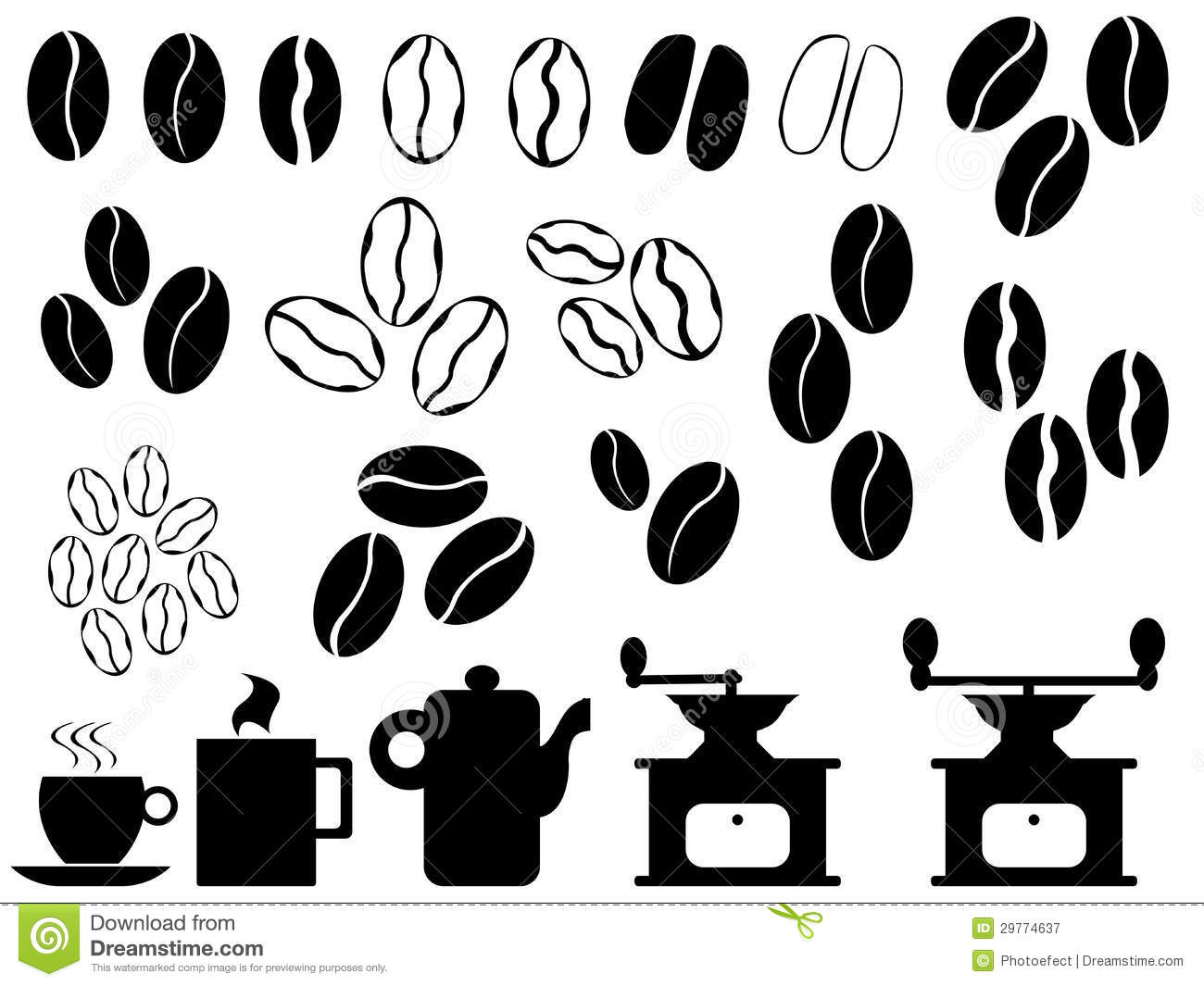 Coffee Beans Vector Royalty Free Stock Photography - Image ...