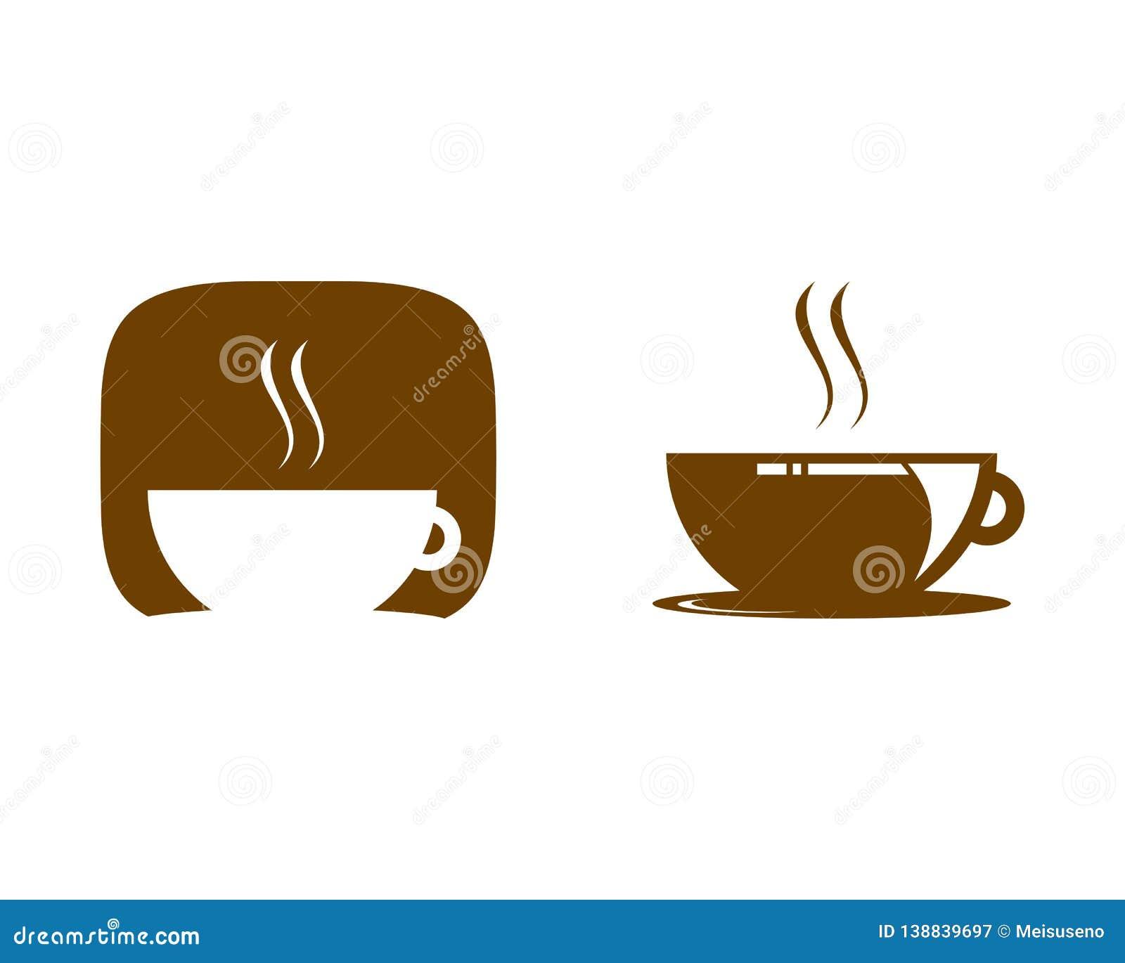 Set of Coffee Shop Logo Icon Template Design Vector Illustration