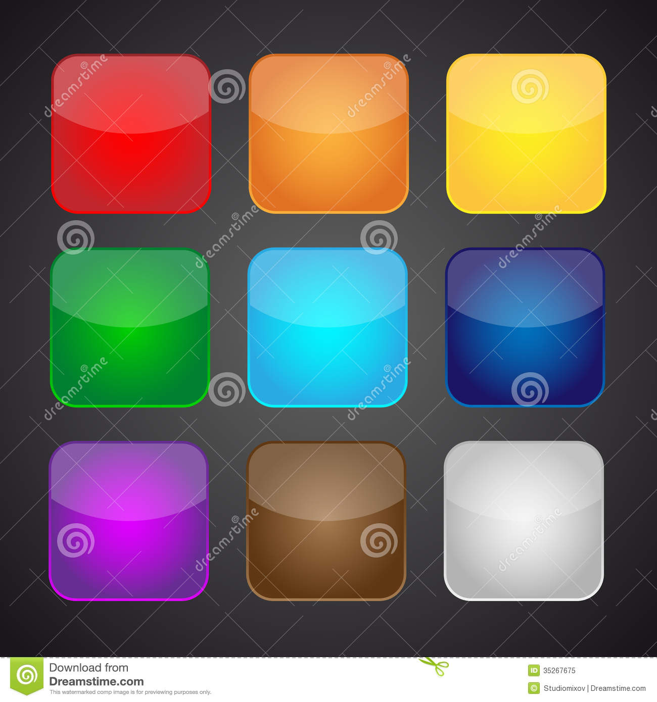 set of color apps icons background illustration 35267675 megapixl