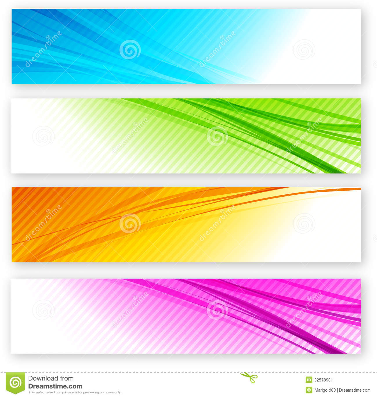 Set Of Color Banner Stock Image Image 32578981