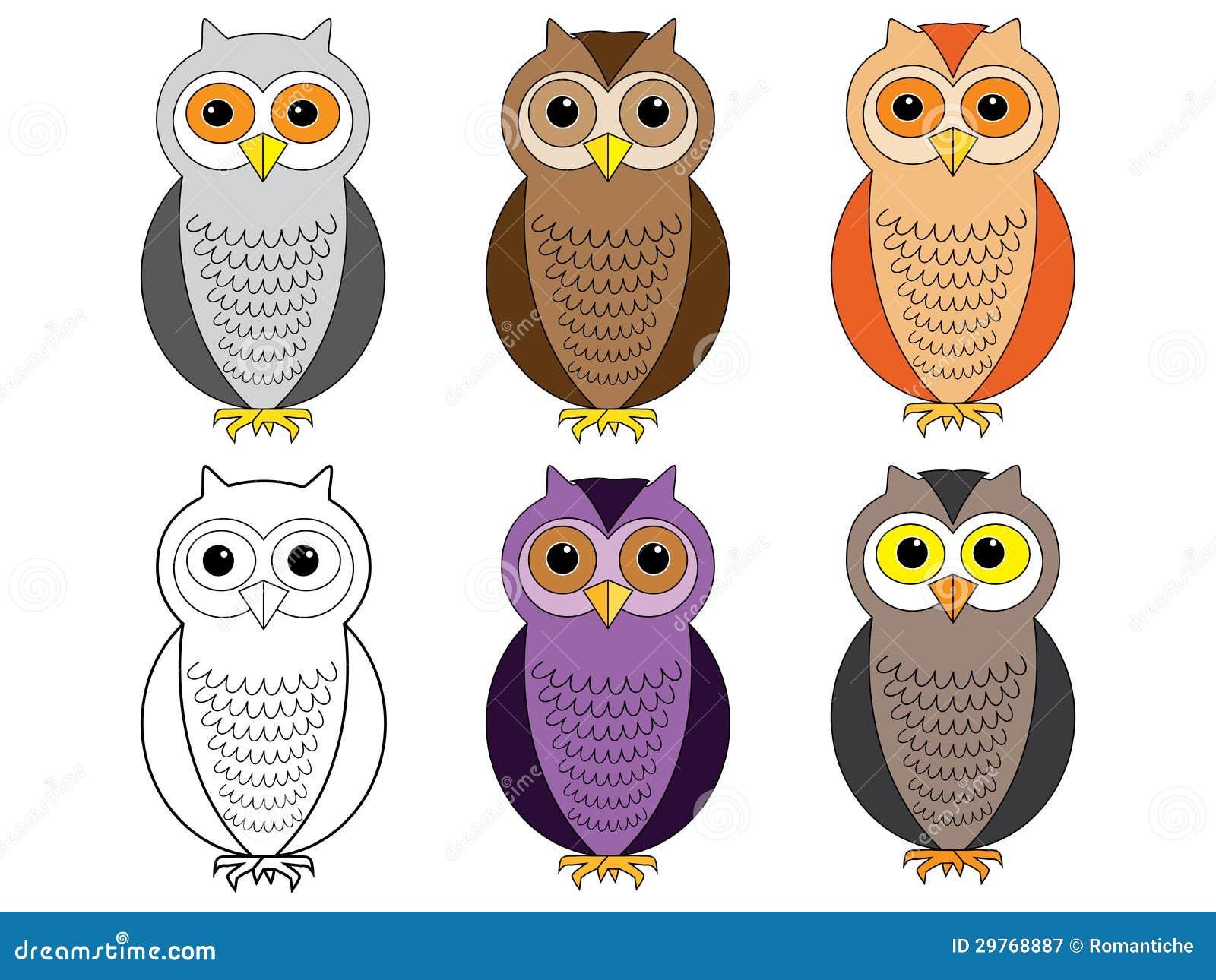 Cartoon Owls Royalty Free Stock Photography Image 29768887