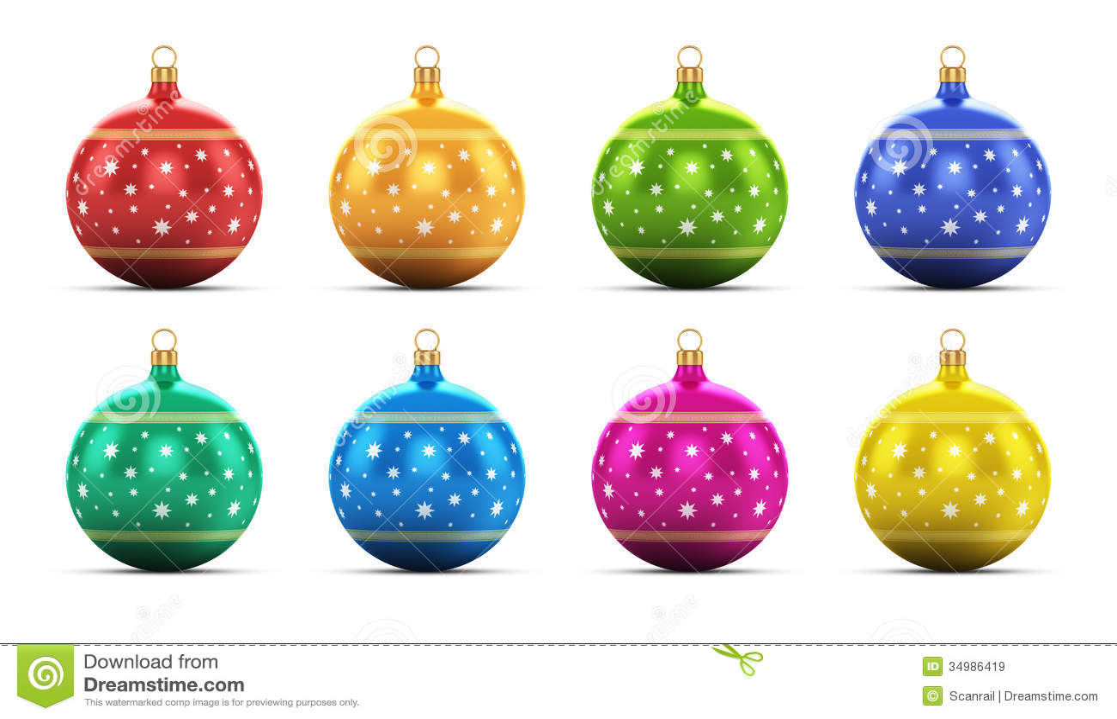 Christmas Tree Ball Colors : Set of color christmas balls stock illustration image