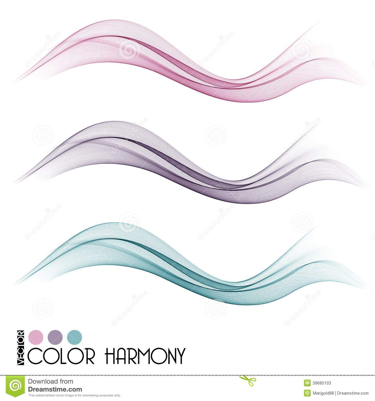 Color Line Design : Set of color curve lines stock vector image