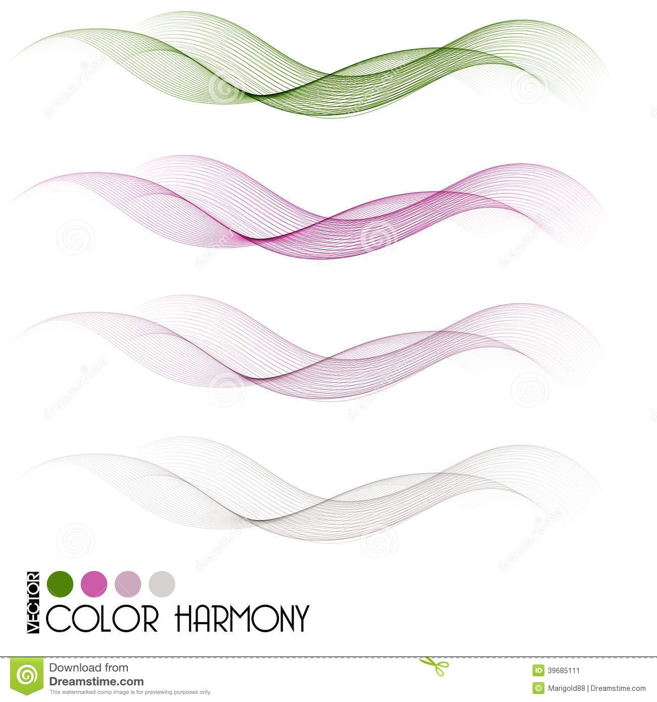 Vector Drawing Lines Libgdx : Set of color curve lines stock vector image copy