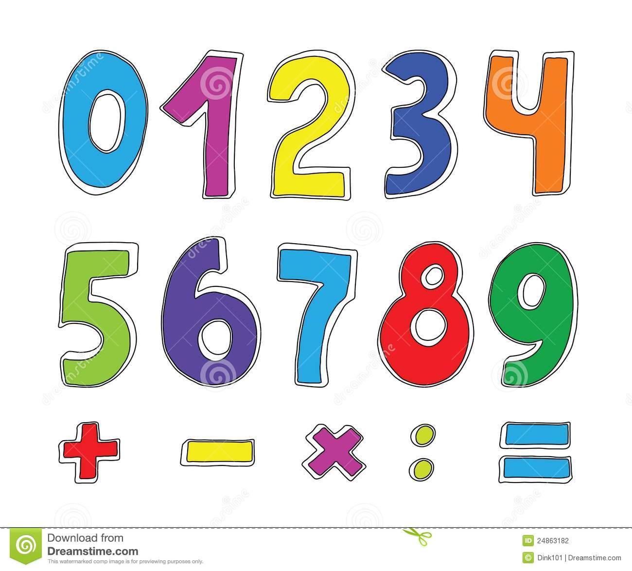Set of color numbers stock vector. Illustration of clip ...