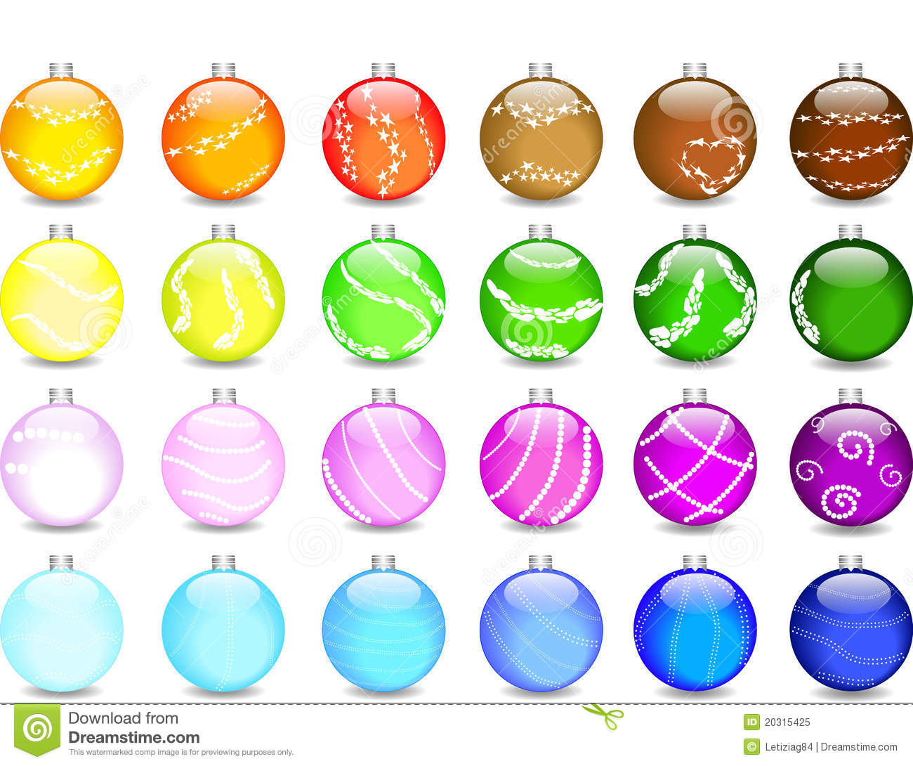 Christmas Tree Ball Colors : Set colored christmas balls and shimmers royalty free