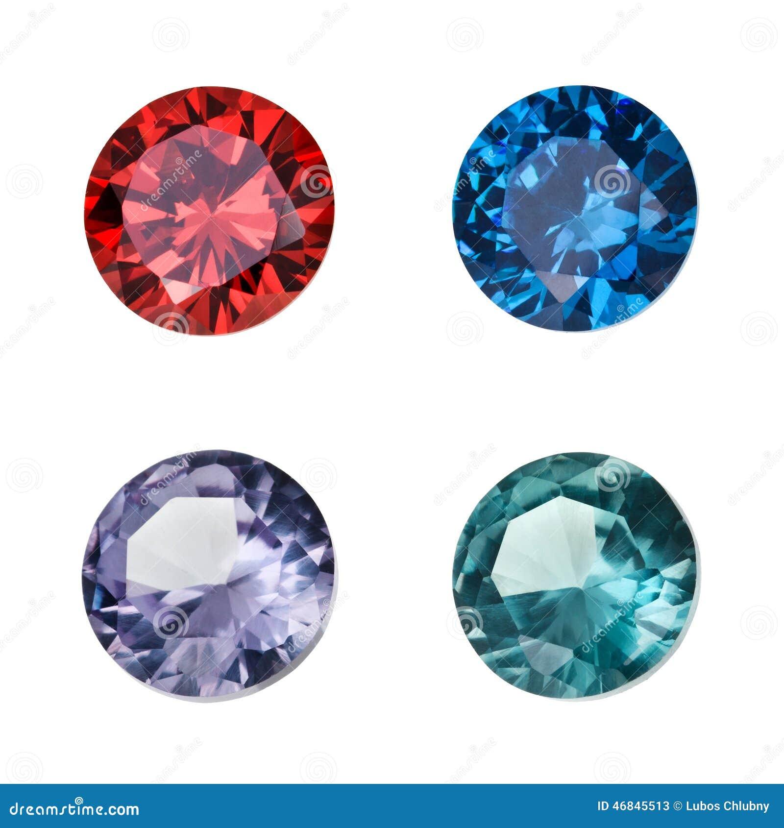 Set Of Colored Gemstones Stock Photo Image 46845513