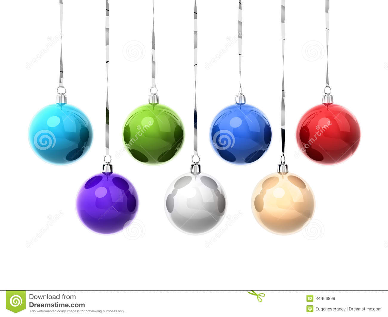 Set Of Colorful Christmas Balls Royalty Free Stock Images