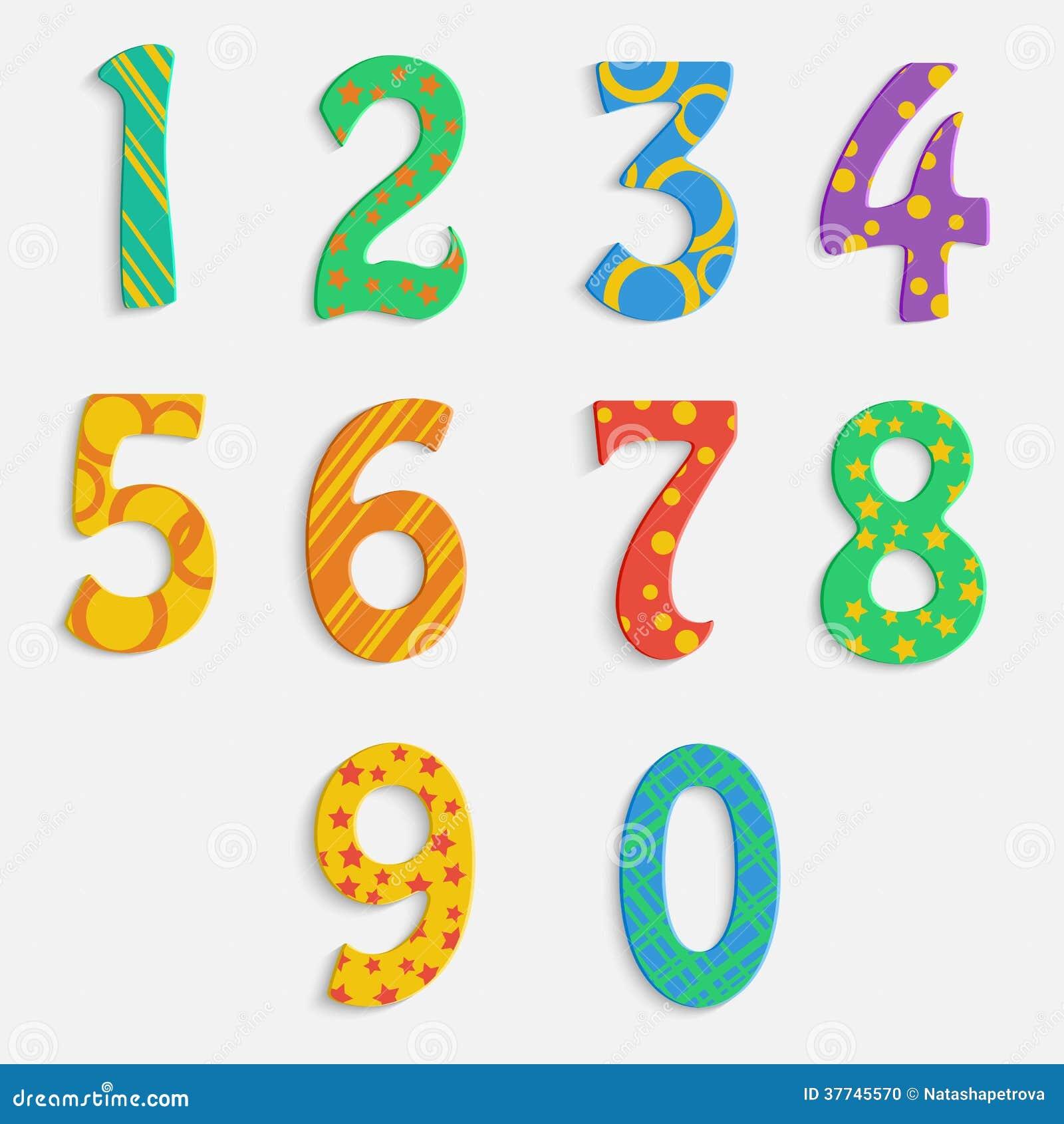 Set Of Colorful Digits Stock Photo - Image: 37745570