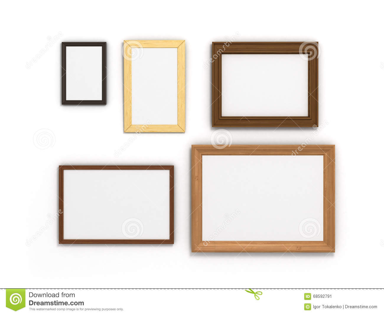 Set Of Colorful Frames Of Different Sizes On A White Background