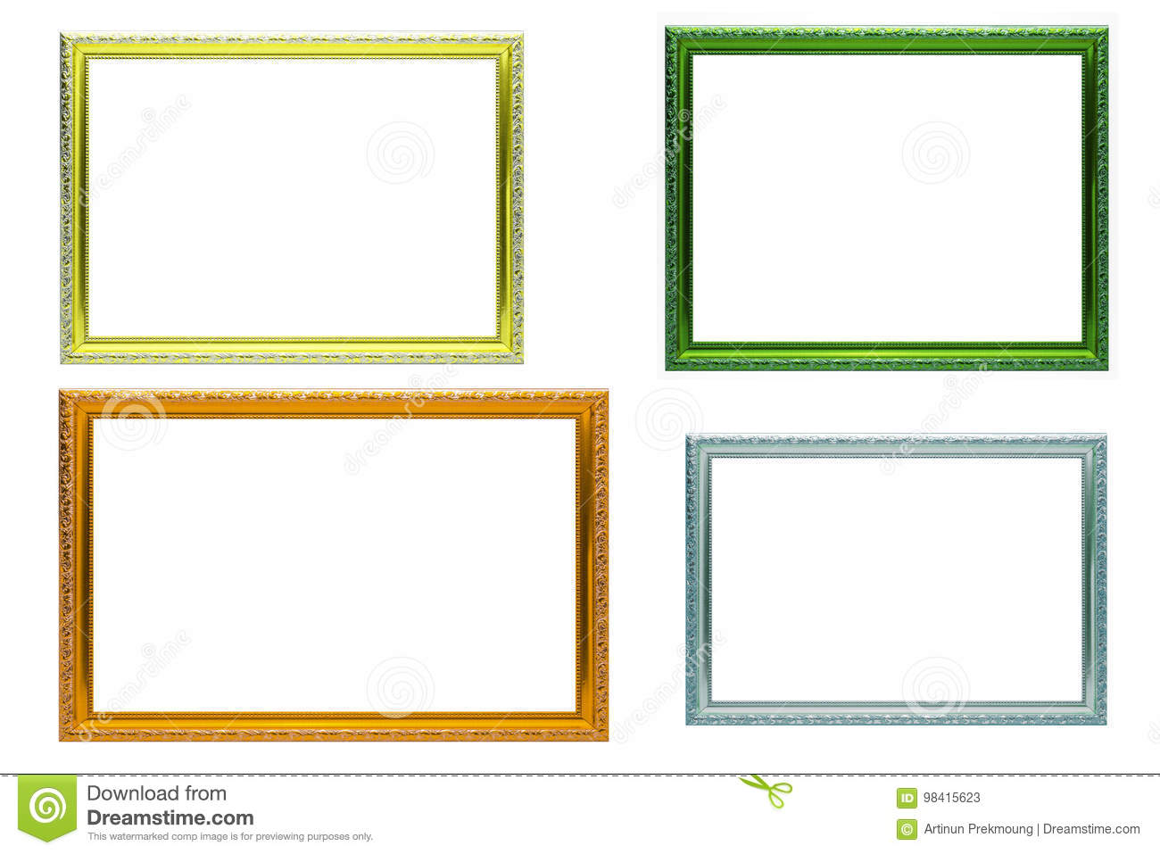 a9d59fc83ddc Set of colorful frames vintage style isolated on white background. More  similar stock images