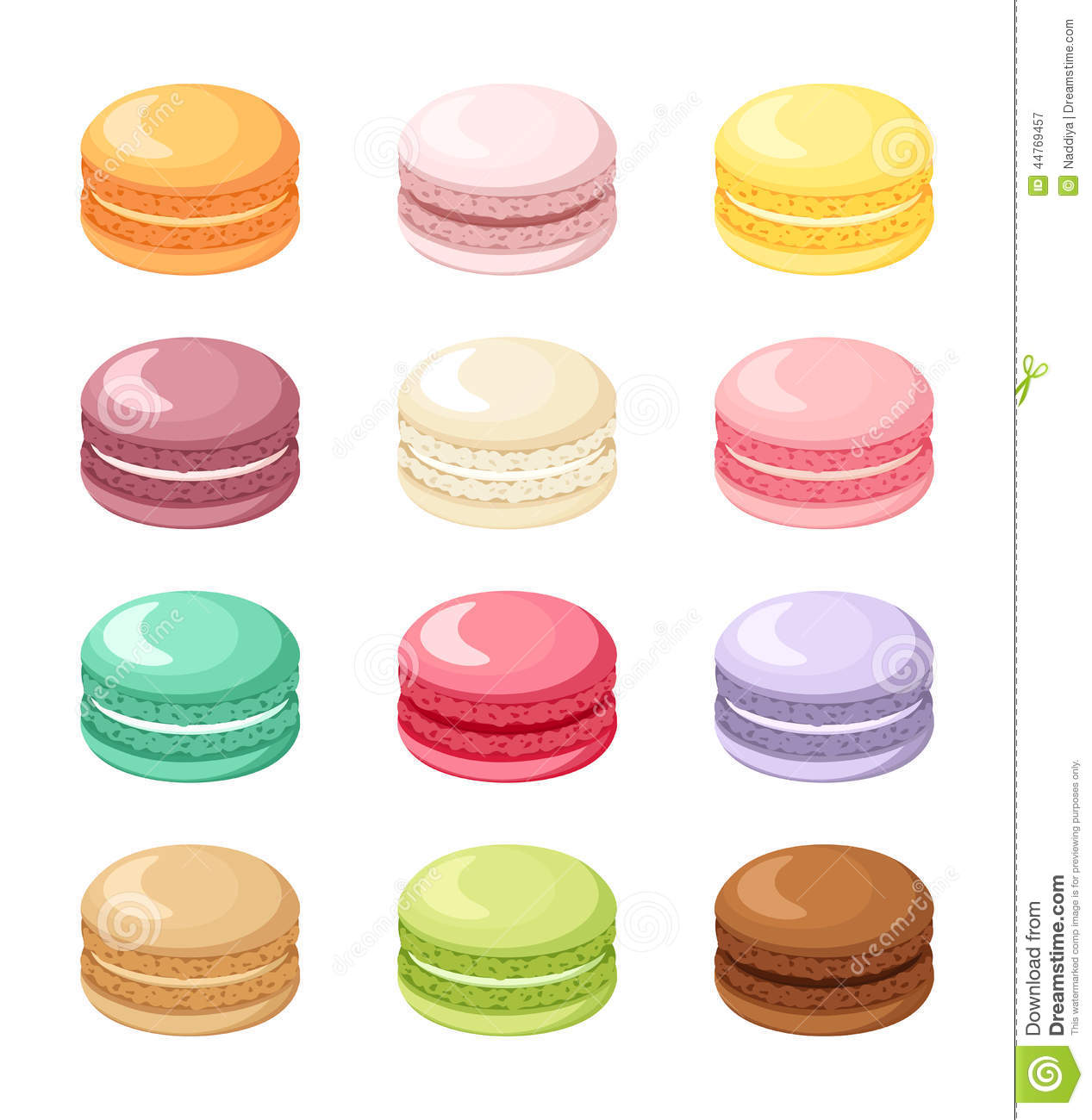 Floor Plan Designers Set Of Colorful French Macaroon Cookies Isolated On White