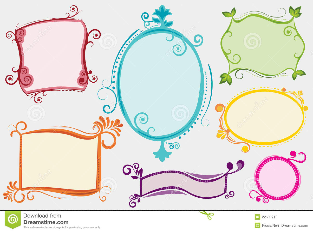 set of colorful funky labels stock vector illustration of colored