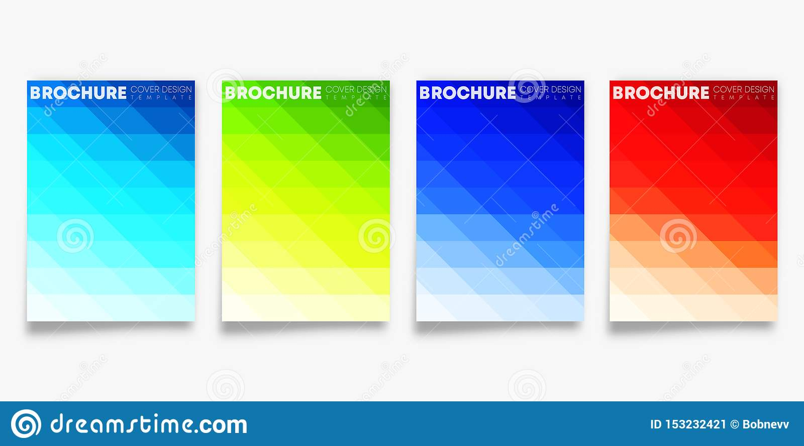 Set of colorful gradient cover template design for flyer, poster, brochure, typography or other printing products