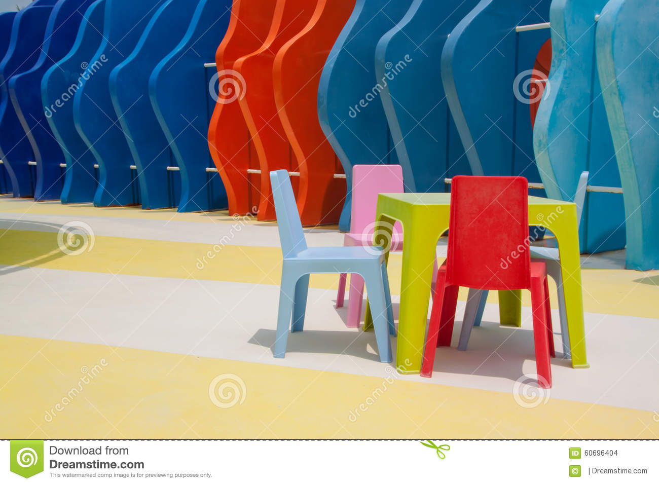 Outstanding Set Of Colorful Kid Chairs And Table Stock Photo Image Of Gmtry Best Dining Table And Chair Ideas Images Gmtryco