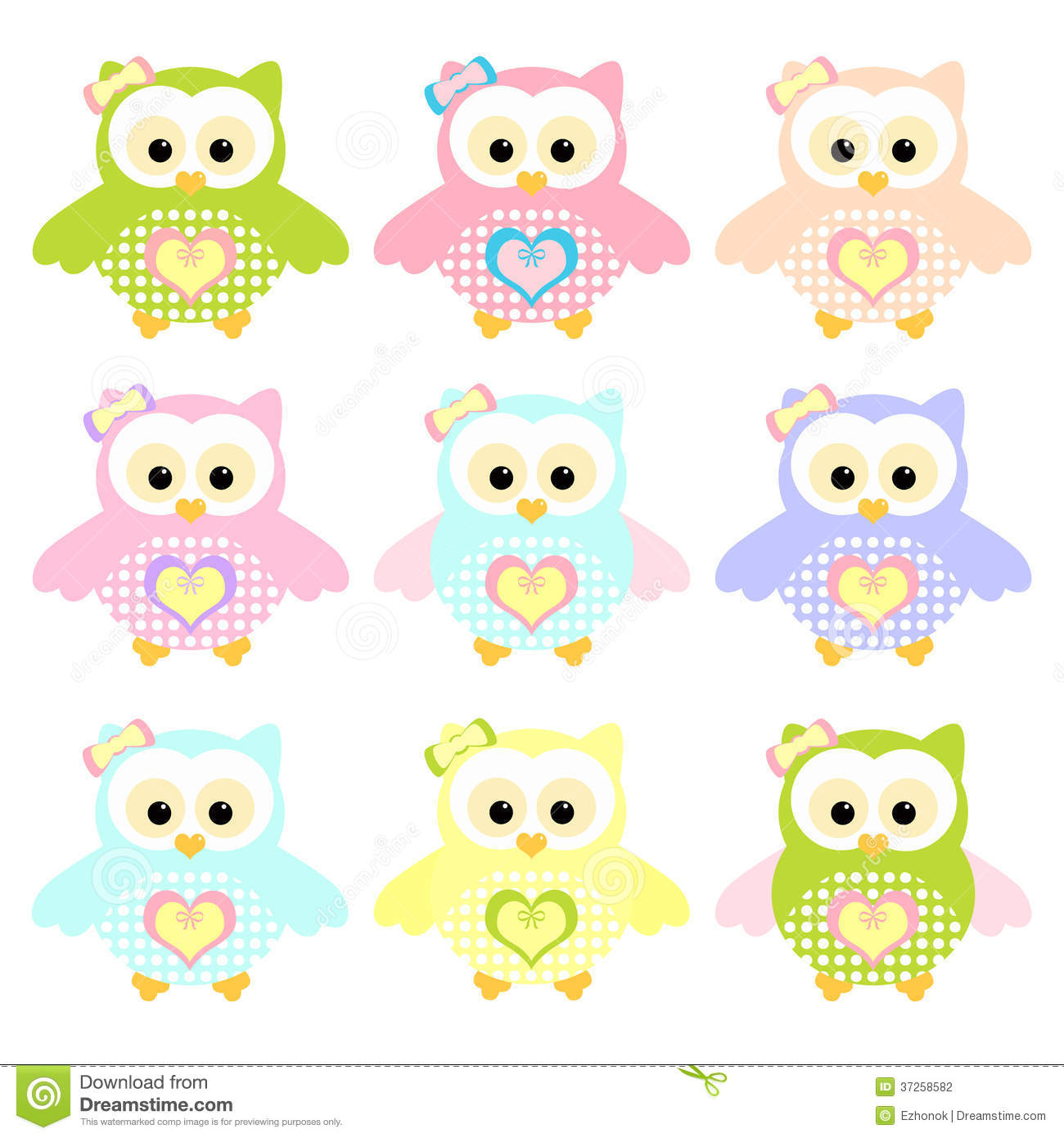 colorful cute owl vector - photo #19